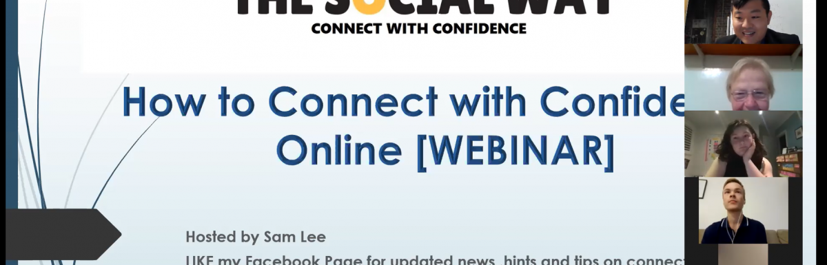 "From LIVE to a greatly executed Online Workshop on ""How you can Connect with Confidence Online"""